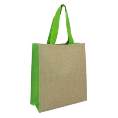 JUTE CARRY-ALL - LIME GREEN