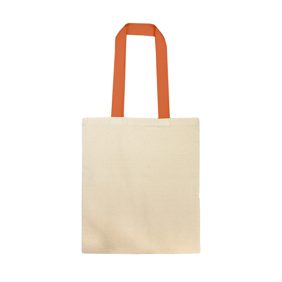 Cotton Tote Bag  With Webbing Handle - NaturalOrange (S3019O_MXM)