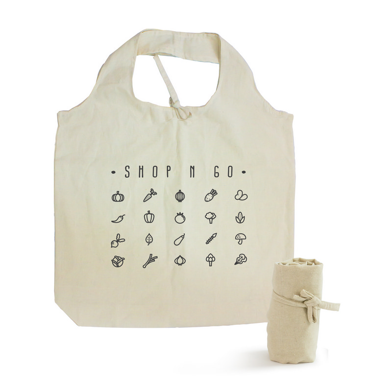 Natural Cotton Roll Up Tote Bag (S3081_MXM)