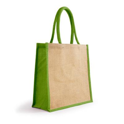 Bonanza Jute Tote Bag - NaturalLime (S3120NLG_MXM)
