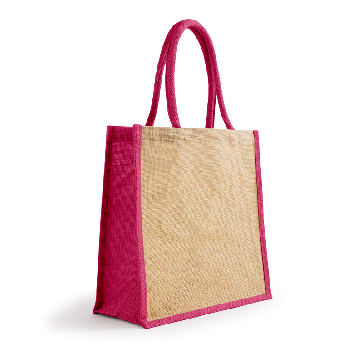 Bonanza Jute Tote Bag - NaturalMagenta (S3120NM_MXM)