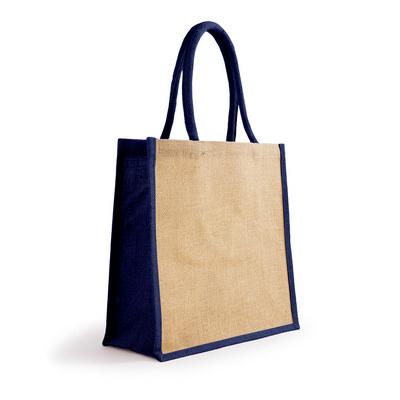 Bonanza Jute Tote Bag - NaturalNavy Blue (S3120NNB_MXM)