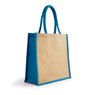 Bonanza Jute Tote Bag - NaturalProcess Blue (S3120NPB_MXM)