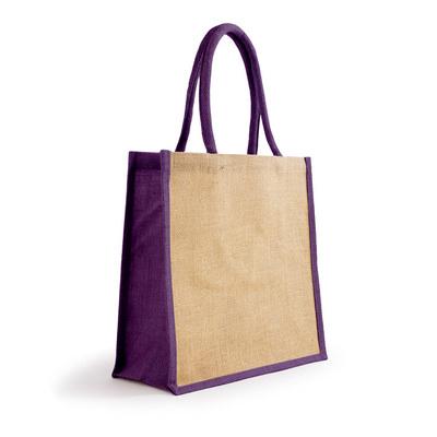 Bonanza Jute Tote Bag - NaturalPurple (S3120NPU_MXM)