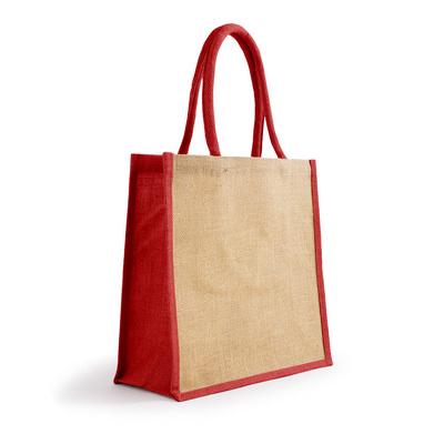 Bonanza Jute Tote Bag - NaturalRed (S3120NR_MXM)