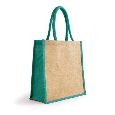 Bonanza Jute Tote Bag - NaturalTurquoise (S3120NTQ_MXM)