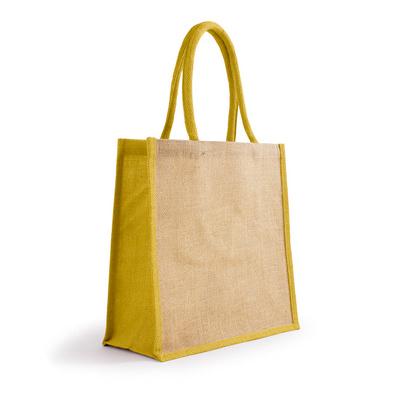Bonanza Jute Tote Bag - NaturalYellow (S3120NY_MXM)