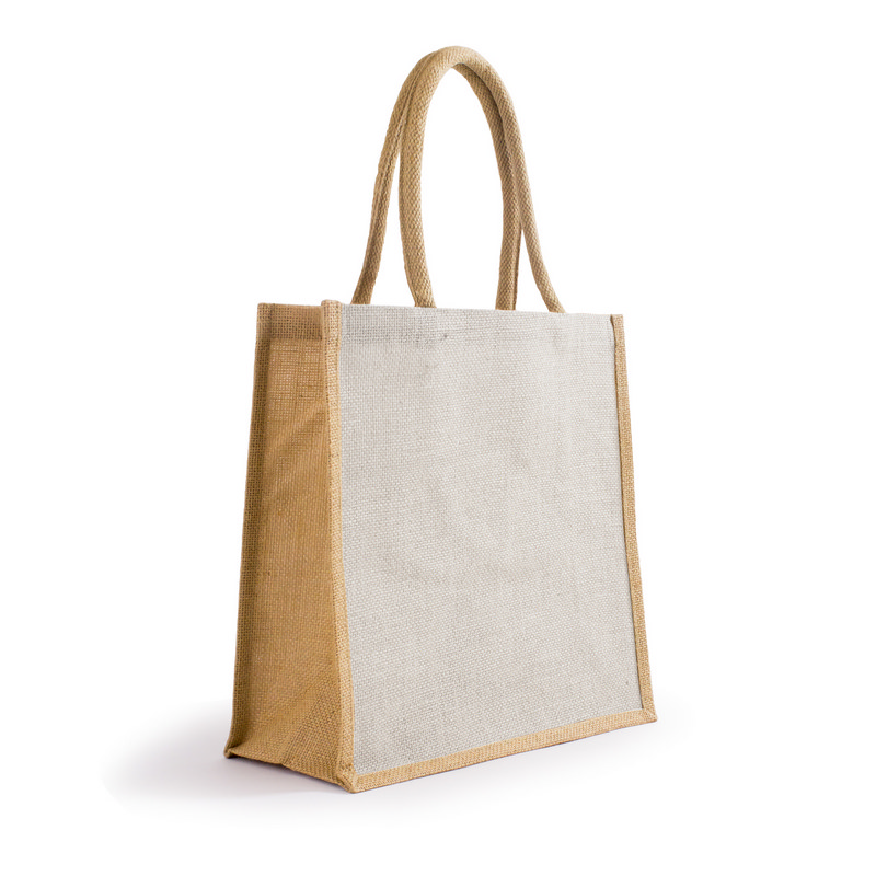 Bonanza Jute Tote Bag - WhiteNatural (S3120WN_MXM)
