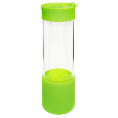Quest Glass Drink Bottle - Lime Green