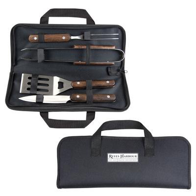 BBQ Set - Wooden Handle (S700_MXM)