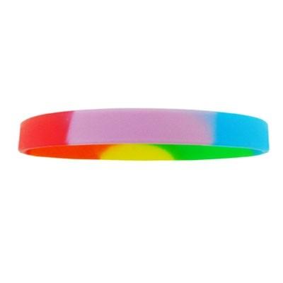 Silicone Wrist Band - Rainbow