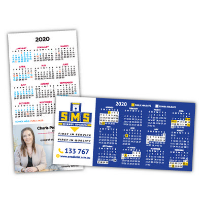Straight Edged Calendar Magnets 72mm x 147mm