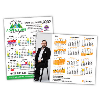 Straight Edged Calendar Magnets 97mm x 122mm