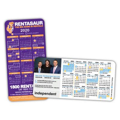 Rounded Corner Calendar Magnets 72mm x 147mm