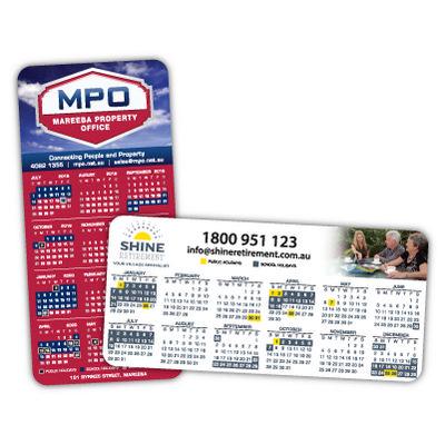 Rounded Corner Calendar Magnets 99mm x 210mm