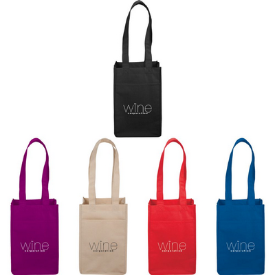 4-Pack Wine Tote - (Includes Decoration) SM-7164_BNZ