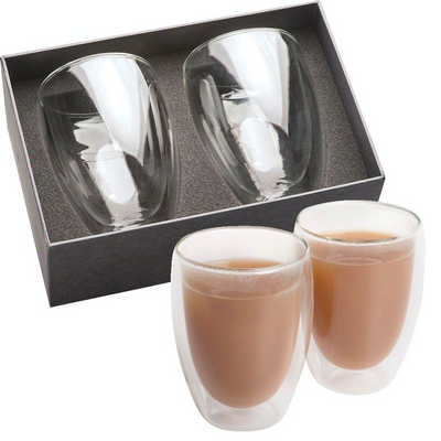 Glass Coffee & Tea Set (1414CL_RNG_DEC)
