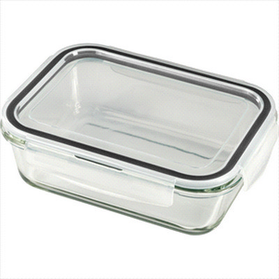 Glass Food Storage Container - Includes Decoration 4284_RNG_DEC
