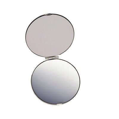 Silver Compact Mirror (8904SL_RNG_DEC)