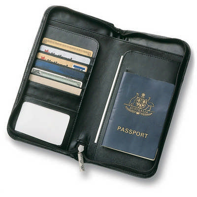 Leather Travel Wallet - Includes Decoration 9018_RNG_DEC