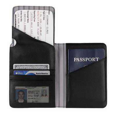 Cutter & Buck� Performance Travel Wallet - Includes Decoration CB1009BK_RNG_DEC