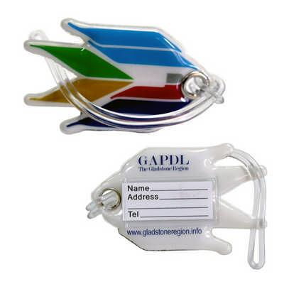 Soft Plastic Luggage Tag - Includes Decoration PLAS-102_RNG_DEC
