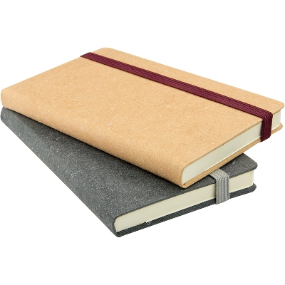 Barton Recycled Leather Pocket Notebooks. OFFSHORE PRICING. - (printed with 1 colour(s)) NB153R-B-24_INDENT