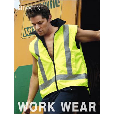 Unisex Adults Hi-Vis Reversible Vest With Reflective tape (SJ0428_BOC)
