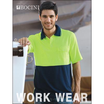 Unisex Adults Hi-Vis Safety Polo - Short Sleeve (SP0427_BOC)