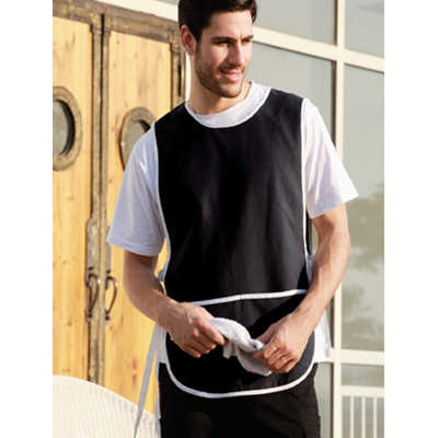 Polyester Drill Popover Apron - With Pocket (WA0676_BOC)