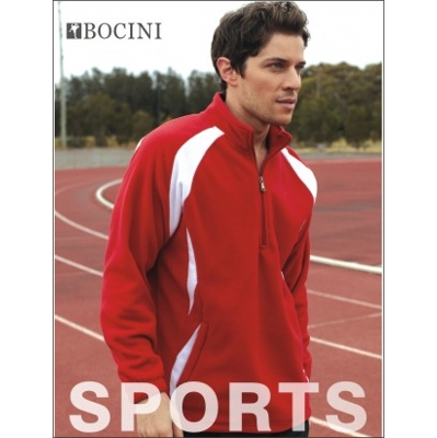 Unisex Adults 1/2 Zip Sports Pull Over Fleece (CJ1050_BOCNZ)