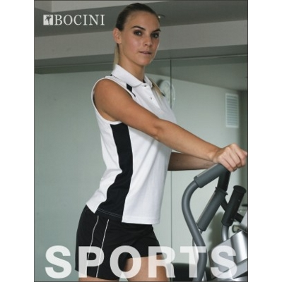 Team Essentials- Ladies Sleeveless Contrast Polo (CP0931_BOCNZ)