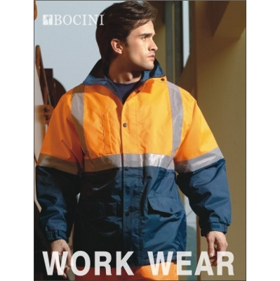 Unisex Adults Hi-Vis Polar Fleece Lined Jacket With Reflective Tape (SJ0430_BOCNZ)
