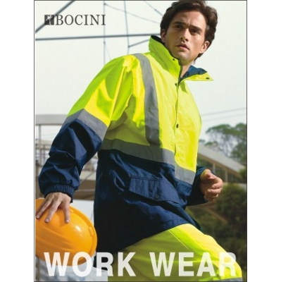 Unisex Adults Hi-Vis Mesh Lining Jacket With Reflective Tape (SJ0432_BOCNZ)