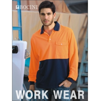 Unisex Adults Hi-Vis Safety Polo -Long Sleeve (SP0426_BOCNZ)