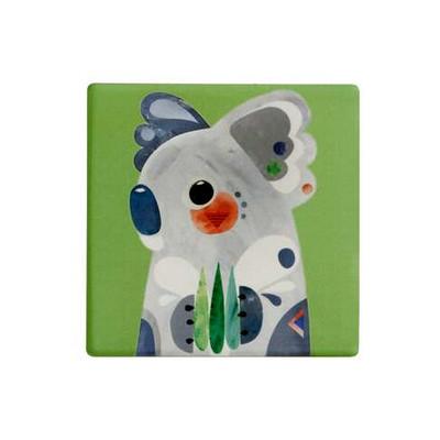 M&W Pete Cromer Ceramic Square Tile Coaster 9.5cm Koala (DU0084_PPI)