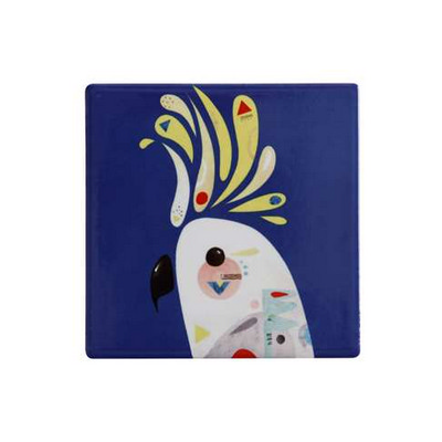M&W Pete Cromer Ceramic Square Tile Coaster 9.5cm Cockatoo (DU0091_PPI)