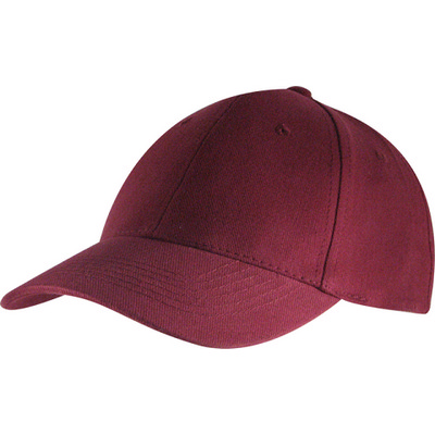 6 Panel Brushed Cotton Cap - Burgundy HW24 (H6009BU_PREAP)