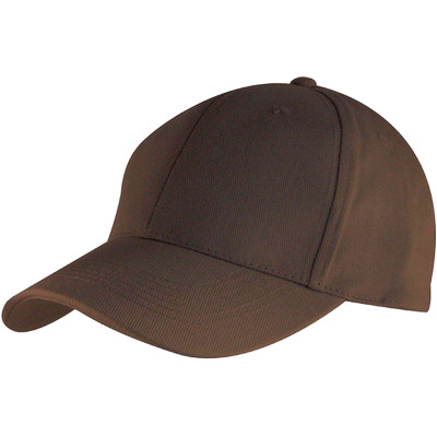 6 Panel Brushed Cotton Cap - Chocolate HW24 (H6009CH_PREAP)