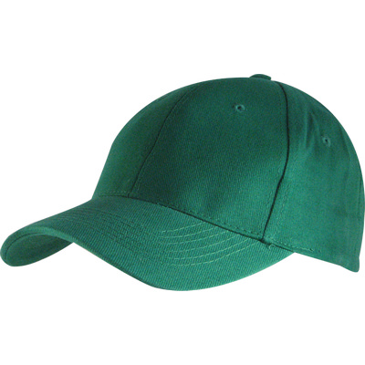 6 Panel Brushed Cotton Cap - Emerald HW24 (H6009EM_PREAP)