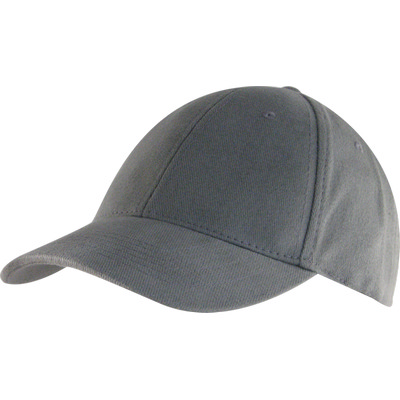 6 Panel Brushed Cotton Cap - Grey HW24 (H6009GR_PREAP)