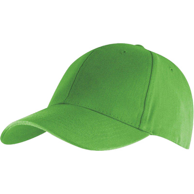 6 Panel Brushed Cotton Cap - Lime HW24 (H6009LI_PREAP)