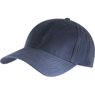 6 Panel Brushed Cotton Cap - Navy HW24 (H6009NY_PREAP)