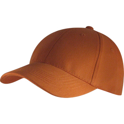 6 Panel Brushed Cotton Cap - Orange HW24 (H6009OR_PREAP)