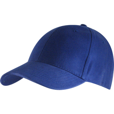 6 Panel Brushed Cotton Cap - Royal HW24 (H6009RO_PREAP)