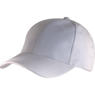 6 Panel Brushed Cotton Cap - White HW24 (H6009WH_PREAP)