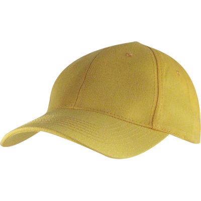 6 Panel Brushed Cotton Cap - Yellow HW24 (H6009YE_PREAP)
