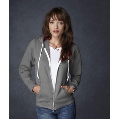 Anvil Ladies Full-Zip fashion hooded sweatshirt
