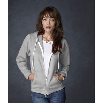 Anvil Ladies Full-Zip fashion hooded sweatshirt
