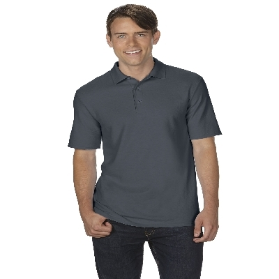 72800 DryBlend Adult Dbl Pique Polo - Charcoal  (728002CH_PREAP)